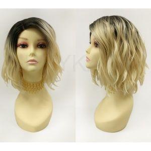 Blonde w/ dark roots Wavy Lob Wig